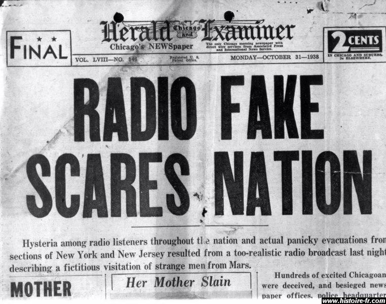 """Résultat de recherche d'images pour """"la guerre des mondes radio"""""""