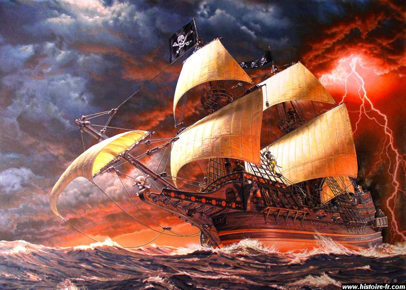 Pirates et corsaires - Image bateau pirate ...