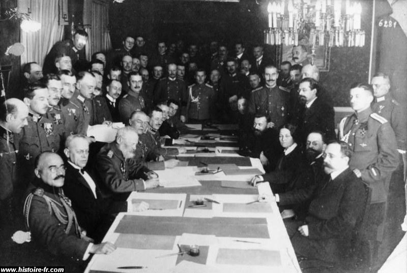 Signature du traité de brest-litovk, mars 1918