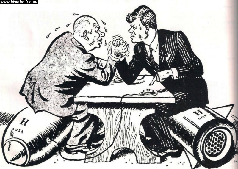 political cartoons kennedy and khrushchev relationship